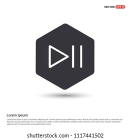 Play pause icon Hexa White Background icon template - Free vector icon