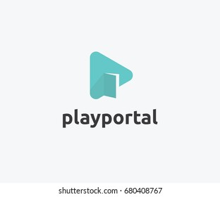 Play Portal Logo Template Design  sc 1 st  Shutterstock & Door Logo Images Stock Photos u0026 Vectors | Shutterstock