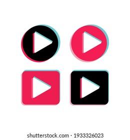 play push vector button set