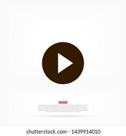 play vector icon 10 eps , Lorem ipsum Flat design