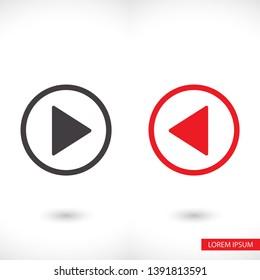 Play  vector icon , lorem ipsum Flat design