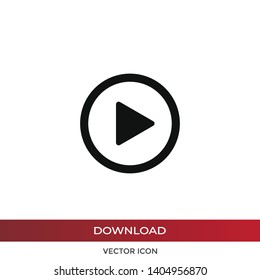 Play vector icon in modern design style for web site and mobile app