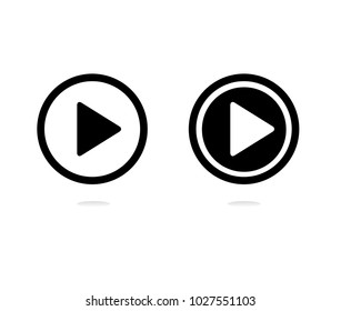 Play vector icon, video play button symbol. Modern, simple flat vector illustration for web site or mobile app