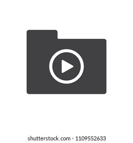 Play vector icon for web design in a flat style