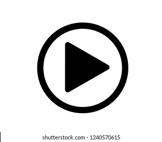 Play video or play media flat icon for apps and websites