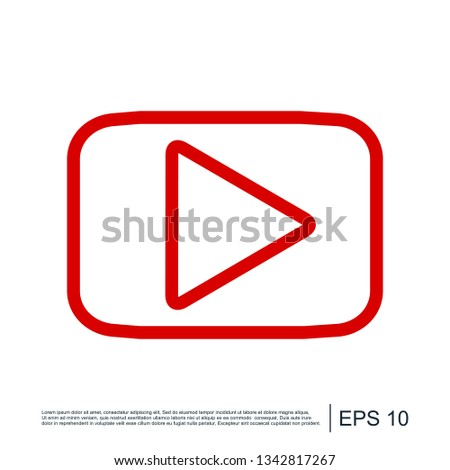Play Video Play Media Flat Icon Stock Vector (Royalty Free