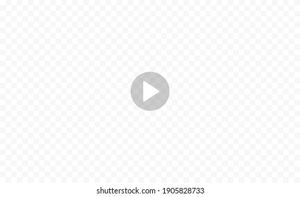 Play video sign isolated on transparent background. Video player interface. Vector illustration.