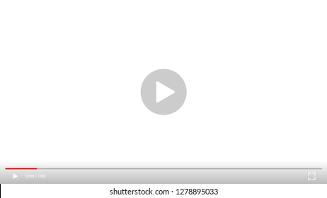 Play video sign vector on transparent background.