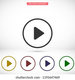 Play Video vector icon