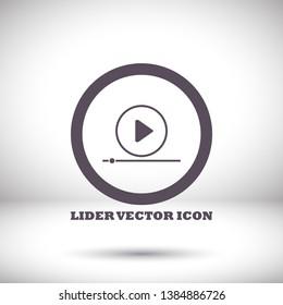 Play Video vector icon. lorem ipsum Flat Design JPG
