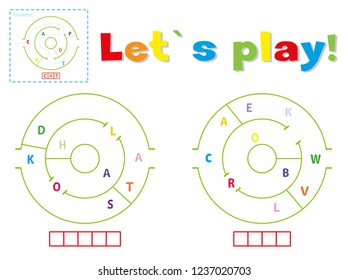 Play and write the words koala and crow. Find a way out of the maze and make words out of letters