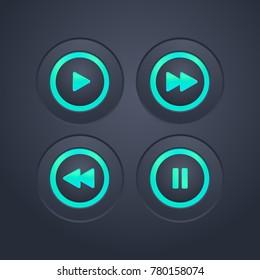 Playback icon set