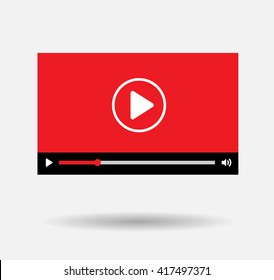 player background Red Play Vector Logo, JPG, JPEG, EPS Icon Button.youtube Flat Social Media Background Sign Download
