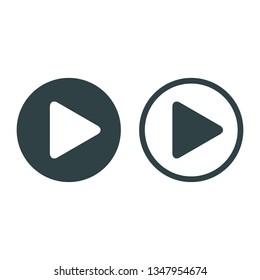 Player Button icon sign – stock vector