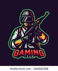 Player mobile gaming mascot logo vector