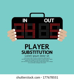 Player Substitution Sport Vector Illustration