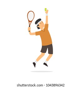 player in tennis. vector isolated illustration.