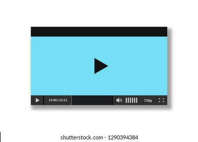 Player for web and mobile apps - video player interface - vector illustration