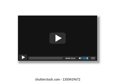 Player for web and mobile apps - video player interface background - vector illustration