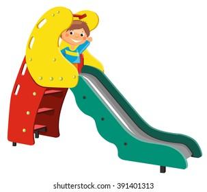 Playground for children. Illustration of slide