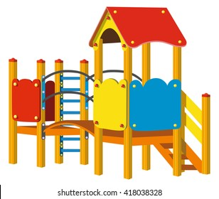 Playground for children. Vector Illustration