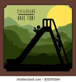 Playground digital design, vector illustration eps 10