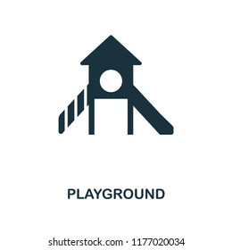 Playground icon. Monochrome style design from city elements collection. UI. Pixel perfect simple pictogram playground icon. Web design, apps, software, print usage.