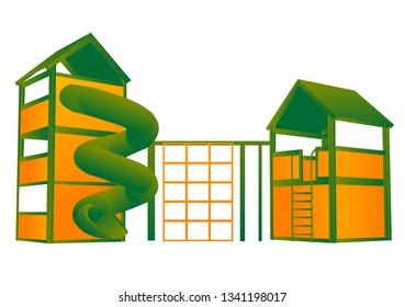playground isolated on white background. 10 EPS