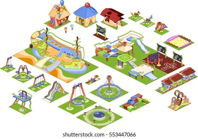Playground - isometric vector