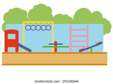 Playground landscape flat design vector
