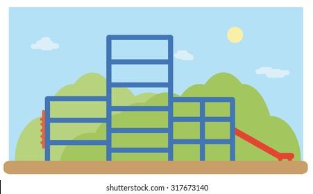 Playground landscape vector