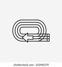 Playground track line icon
