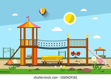 Playground. Vector City Park.
