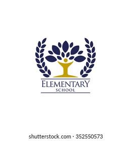 Playgroup, preschool, kindergarten logo template