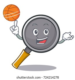 Playing basketball frying pan cartoon character