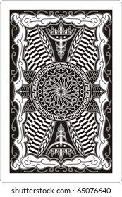 playing card 60x90 mm back side
