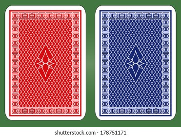 Playing Card Back Design.