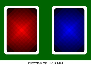 Playing Card Back Designs - diagonal lines pattern, vector set,