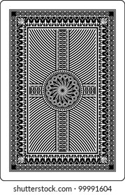 playing card back side 62x90 mm