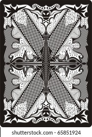 playing card back side 65x90 mm