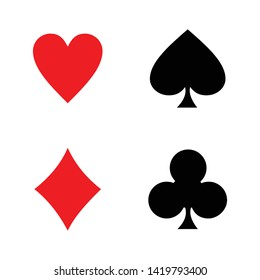playing card casino icon vector symbol