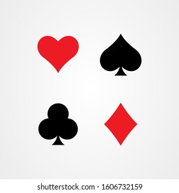 Playing card icon logo design, casino symbol vector illustration
