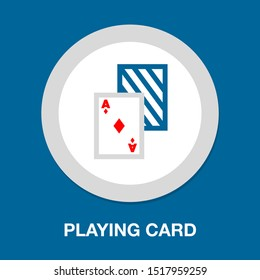 Playing card illustration - casino symbol - playing cards sign