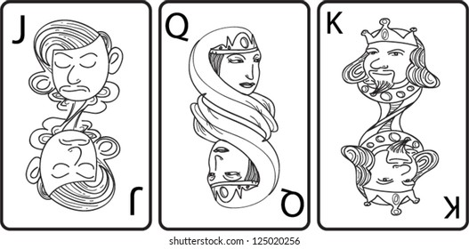 playing card jack-queen-king