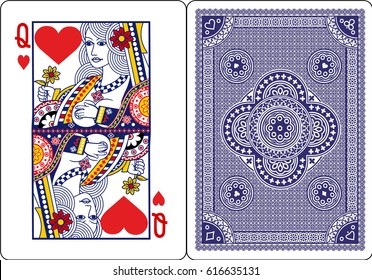 playing card, Queen of heart