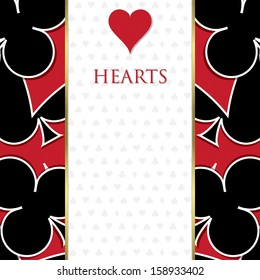 Playing card suit background in vector format.