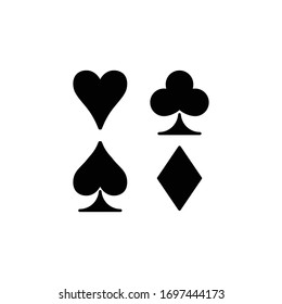 playing card suit icon black vector illustration