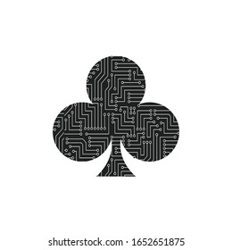 Playing card suit symbol - Clubs
