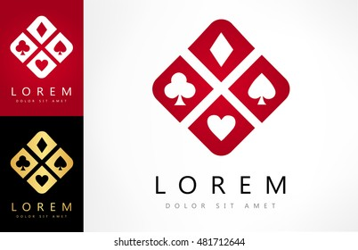 Playing Card Suit vector. Logo design vector illustration.