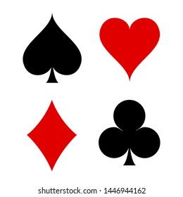 playing card symbol icon vector design casino